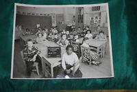 Vintage Photograph School Classroom-1956 Halloran School Elizabeth NJ-Grade 3&4