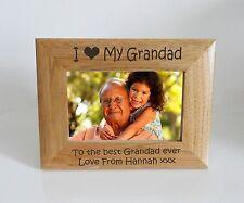 Grandad Photo Frame   I heart-Love My Grandad 7 x 5 Photo Frame - Free Engraving