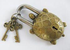 "Turtle With Tibetan Mantra Brass Padlock 5"""