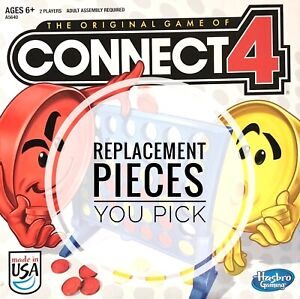 Connect 4 Replacement Pieces Game Legs and Red or Yellow Checkers 2016 You Pick
