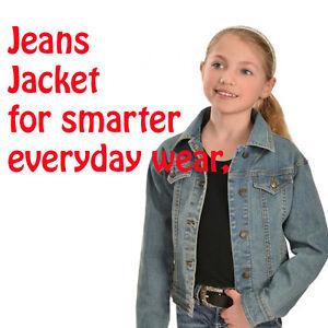 GIRLS DENIM JACKET EX M*S SIZES 7-8-9-10-11-12-13-14  EXCELLENT FIT, STYLE