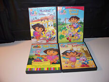 4 DVDS Dora Explorer - Egg Hunt,We're A Team,Summer Explorer,Musical School Days