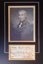 1st BARON GEORGE HARRIS - SOLDIER IN U.S. WAR OF INDEPENDENCE - SIGNED DISPLAY
