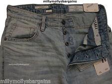 NUOVI Pantaloncini uomo dritto blu denim jeans leggera NEXT Girovita 30 lungo Leg34 RRP £ 45