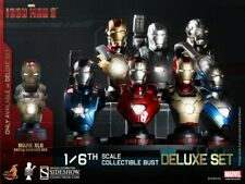 Marvel Iron Man 3 Deluxe Set of 8 Sixth Scale Collectable Bust Hot Toys