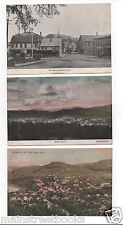 BRISTOL NH 3 Vintage Postcards Town Square Sugar Hill Hand Colored View Bristol