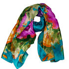 Women Colorful Long Satin Silk Scarf Wrap Ladies Shawl Girls Large Stole Scarves