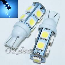 2pcs Bulb New 9-SMD 5050 T10 168 194 W5W LED Car Side Wedge Light White DC 12V