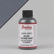 Angelus Acrylic Leather Paint DARK GREY 4oz (118ml) Bottle Water Resistant