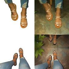 Bling Slipper Slip-on Schuhe Sandaletten Damen Sommer Strand Glitzer N8O7