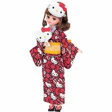 Rika / Licca Chan Dress I Love Hello Kitty Yukata Set Girls Toy from Japan