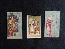 3 Chromos Maison du pont neuf Paris bretons personnages médiévaux, miniatures