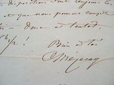 Lettre du compositeur Mézeray à Elwart.