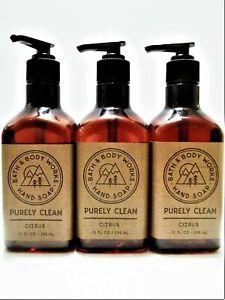 Bath Body Works PURELY CLEAN CITRUS Hand Soap, 10 fl. oz, NEW x 3