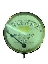 Vintage Brass Speedometer Jones Veteran