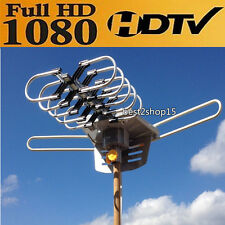 HDTV1080p Outdoor Amplified Antenna 360 Rotor Digital HD TV UHF VHF FM 150M