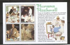 US SC # 2840 Norman Rockwell , Souvenir Sheet .MNH