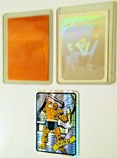 Cosmic Spiderman Hologram Card 1990 - Impel 1992 Thing - Thing Prism Decal