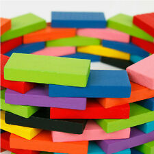 240Pcs 10Multicolor Authentic Standard Wooden Children Domino Kids Game Toy Gift