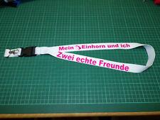 Einhorn Spruch  Schlüsselband ca 50 cm Neu
