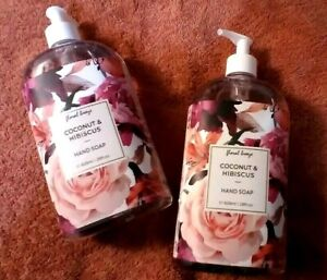 2 - Home & Body Co. Floral Breeze COCONUT HIBISCUS Moisturizing Hand Soap 28 OZ