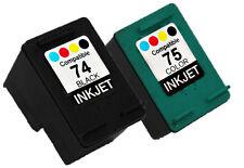 2PK INK FOR HP 74 HP 75 CB335WN CB337WN Black&Color OFFICEJET J6488