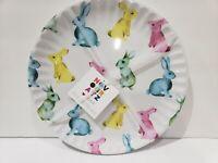 8pc Novogratz Easter Pastel Bunny Rabbits Peeps Melamine Dinner Plates