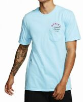 Hurley Mens T-Shirt Classic Light Blue Size 2XL Graphic Logo Tee $28- #122