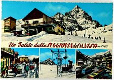Cartolina Un Saluto Dalla Seggiovia Del M. Viso m. 2160 Viaggiata