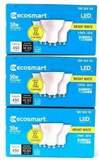 (3 Boxes) Ecosmart Bright White LED 1001 654 142 50w Replacement 3 Count Bulbs
