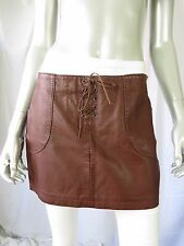 FOREVER 21 Boutique M Faux Leather Brown Very Short Low Waisline Mini Skirt
