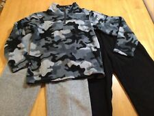 The Children's Place Boys Glacier Fleece 2 Pants & Pullover, Size S 5/6, Bl Camo