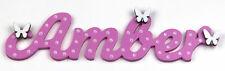 Personalised Children's Wooden Name Plaques / Bedroom Door Sign / Butterflys #75