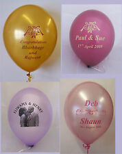 "100  Printed 11"" Pearl Latex Balloons - Own  Message, Custom Print, Your Logo"