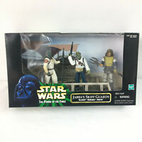 Star Wars POTF Jabba's Skiff Guards Klaatu Barada Nikto 3 Fig Set Hasbro 1998
