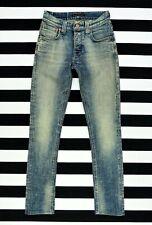 NUDIE NJ3795 GRIM TIM ORG. WORN CRINKLES Slim fit Skinny leg Stretch Jeans