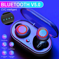 TWS Bluetooth Touch Earbuds Wireless Headset Stereo Noise Cancelling Headphones