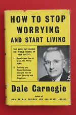 *VINTAGE* HOW TO STOP WORRYING AND START LIVING by Dale Carnegie (HC/DJ, 1954)