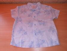 chemise manches courtes CATIMINI bleu imprimé poissons taille 6 mois - neuf