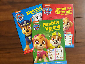 Lot Of 3 Nickelodeon Paw Patrol Pre-K WORKBOOK And Coloring Activity Book NEW!