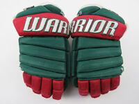"""Warrior Alpha Ice Hockey Gloves Senior Size 13"""" Green Red"""