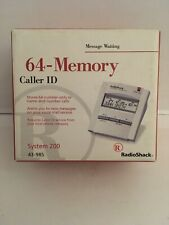 Radio Shack 64 Memory Caller Id 43-988 White Preowned Original Box