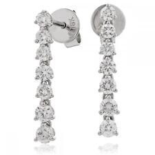 Diamante Pendientes 0.75 CT F vs Brillante Corte 18 ct oro blanco perforado