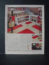 1953 Armstrong's Linoleum Flooring Neighborhood Store Vintage Print Ad 10716