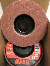 Box Of 5 Maroon Fine Surface Preparation Flap Disc 4 12x78 Keen Brite 55865