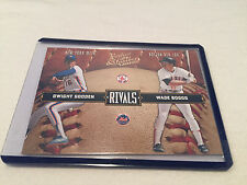 2004 Donruss Leather and Lumber Rivals Dwight Gooden Wade Boggs serial #d
