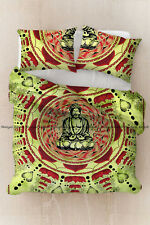 New Indian Buddha Print Duvet Doona Cover Hippie Mandala Quilt Cover Bedding Set