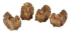 Thanksgiving & Fall Decor - Wild Turkey Tea Light Candle Holders - Set Of Four