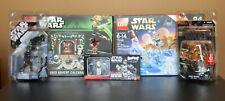 STAR WARS LEGO 2013 & 2016 Advent Calendars, 2 Action Figures & Bust-Ups