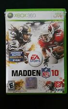 Microsoft Xbox 360 Madden 10 Video Game NFL Football Xbox Live Free Shipping